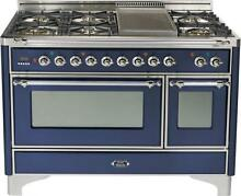 Ilve UM120FDMPBLX Majestic 48  Dual Fuel Gas Range Double Oven Reduced Price
