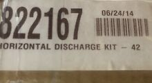 Wolf   822167 42  Pro Wall Hood Horizontal Discharge Kit MSRP   90