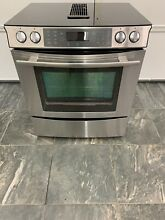 Downdraft Whirlpool Jenn Air Electric Slide In Range  Glasstop Stove
