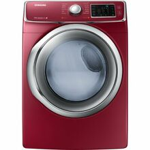 Samsung DV42H5400EF 7 5 Cu  Ft  Front Load Electric Steam Dryer with Drying Rack