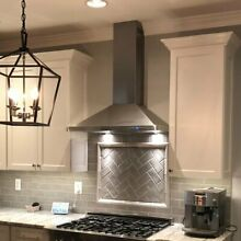 Convertible Kitchen ISLAND Mount Range Hood with Lights  Stainless Steel 36inch