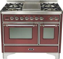Ilve UMD100FDMPRBX 40   Dual Fuel Gas Range Double Oven Price Reduced