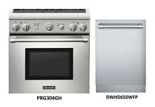 PRG304GH  THERMADOR 30  GAS RANGE   DWHD650WFP 24  STAINLESS DISHWASHER  NIB