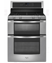 Brand New Whirlpool WGG555S0BS Stainless Steel Double Oven 4 Burner Gas Range