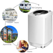 2  1 Wash   Spin Dry Top Load Automatic Laundry Washing Machine Dorm RV Camping