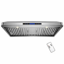42  Stainless Steel Touch Panel Kitchen Cooking Fan Under Cabinet Range Hood