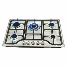 30 inch Stainless Steel 5 Burners Built in Cooktops Liquid Natural LPG Gas Hob