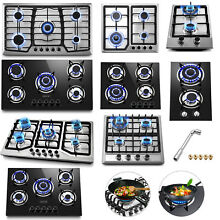 Tempered Glass 2 5 Burners Built In Stove Gas Cooktop 12 36  Black For Kitchen
