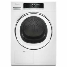Whirlpool  WHD5090GW 24 Inch 4 3 cu  ft  Compact Electric Dryer with Steam