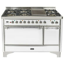 Ilve UMC120FDMPBX Majestic 48  Dual Fuel Gas Range Double Oven Reduced Price