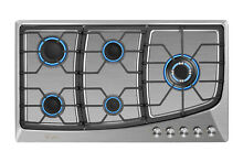 Empava 36 inch Gas Stove Cooktop 5 Italy Sabaf Burners Stainless Steel 36GC901