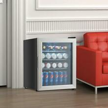 52 Can Beverage Refrigerator Cooler With Glass Door Stainless Steel Kitchen