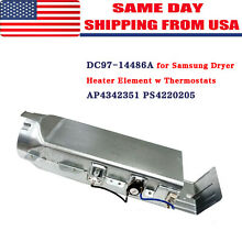 DC97 14486A for Samsung Dryer Heater Element w Thermostats AP4342351 PS4220205