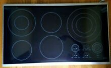 Wolf CT36ES 36  Black Smoothtop Electric Cooktop 5 Element Burner Touch Control