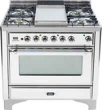 Ilve UM90FDVGGBX 36  All Gas Range Oven Griddle True White Price Reduced