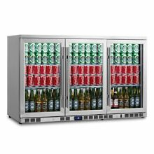 3 Door Heating Glass Undercounter Beverage Cooler Drink Center