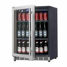 24  Under Counter Beverage Cooler With  Glass Door