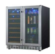 30  Under Counter Wine and Beer Cooler Combo   Built In or Freestanding