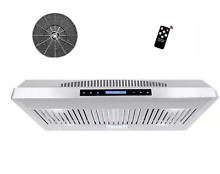 30  Wall Mount Stainless Steel Push Panel Kitchen Range Hood UNDER CABINET