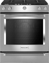KITCHENAID KSGG700ESS 30 Inch 5 Burner Gas Slide In Convection Range
