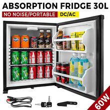 1 Cu Ft Lockable Silent Absorption Fridge DC AC No Freon Office Mini Cooler
