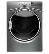 Whirlpool WGD92HEFC 27 Inch 7 4 cu  ft  Gas Dryer  Chrome Shadow