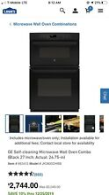 GE 27 Inch Built In Combination Microwave and Oven in Black Black Rustic  Vintag