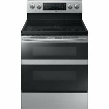 Samsung NE59M6850SS 5 9 Cu  Ft  Flex Duo Stainless Steel Electric Range