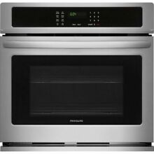 Frigidaire Stainless Steel 27  Single Wall Oven Electric FFEW2726TS Rear Dent