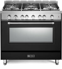 Verona Prestige Series VPFSGG365E 36  All Gas 5 Burner Range Oven Matte Black