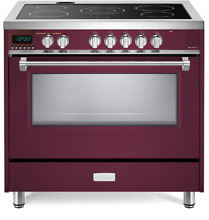 Verona Designer VDFSEE365BU 36  Electric Range Oven Convection Burgundy
