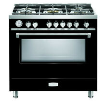 Verona Designer Series VDFSGG365GB 36   All Gas Range Oven 5 Burner Gloss Black