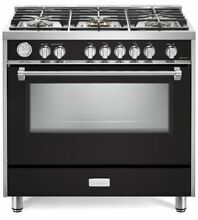 Verona Designer Series VDFSGG365E 36  All Gas Range Convection Oven Matte Black