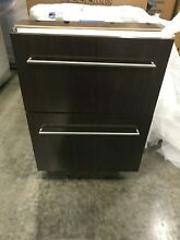 ID24R SUBZERO 24  UNDER COUNTER FRIDGE DRAWERS PANEL READY TUB HANDLES DISPLAY