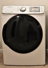 Samsung   7 5 Cu  Ft  14 Cycle High Efficiency Electric Dryer with Steam   White