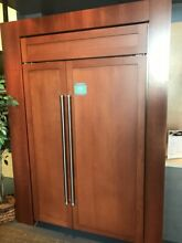 BI48SIDO SUBZERO 48  SIDE BY SIDE FRIDGE W DISPENSER PANEL READY DISPLAY