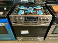 Frigidaire Gallery 30 in  5 6 cu  ft  Gas Range Air Fry Smudge Proof Stainless