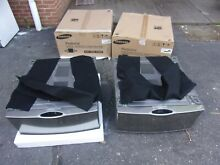 2 Samsung Platinum Pedestals Pedestal WE357A0P for Washer   Dryer WITH HARDWARE