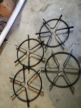 Circle Gas Range Burner GRATE Stove Top Oven CAST IRON set of 4