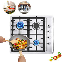 Built In 23  Stainless Steel 4 Burner Stove NG LPG Gas Hob Cooktop Cooker Cook