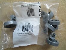 ASKO DISHWASHER LOWER RACK ROLLERS WHEELS 8801336 77 NEW STOCK SET OF EIGHT
