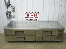True Stainless TRCB 82 Refrigerated Drawer Chef Base Equipment Grill Fryer Stand