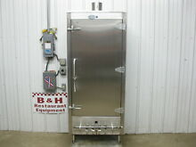 NSF Chinese Smoker Nat Gas Stainless Steel w  4 Burners   Never Used 30 x24 x72