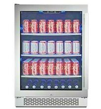 Avallon ABR241SGLH 24 W 140 Can Beverage Center  Stainless with Glass  Left Hand