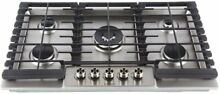 LYCAN Gas Cooktop Stainless Steel Stove Top 5 Italy Sabaf Burners 36in Gas Range