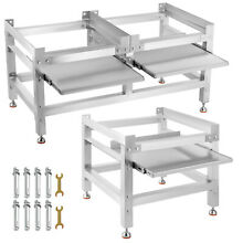 Washing Machine Stand  Pedestal for Washer and Dryer 300 590lbs w  Tray Aluminum