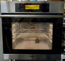 Miele Master Chef H4684B Built in Wall Oven 24  Stainless 220 V German Quality
