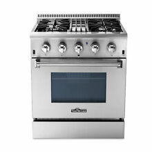 Thro 30  Electric Convection Oven Gas Range Stainless Steel Dual Fuel 4 2 Cu ft