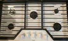 36  Whirlpool White 36 in  Natural Gas Cooktop with 5 Burners