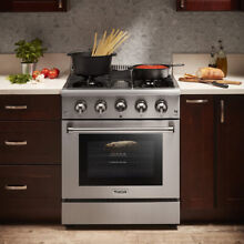 Thor Kitchen 30  Gas Range Cooktop Stove 4 Burners 4 2cu ft Oven Stainless Steel